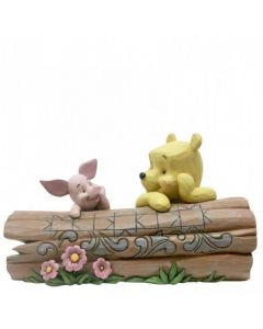 Truncated Conversation: Pooh and Piglet on a Log Figurine 6005964