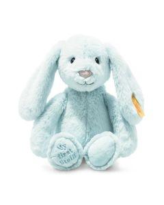 Steiff My First Steiff Hoppie Rabbit Blue Plush Soft Cuddly Friends 26cm 242069