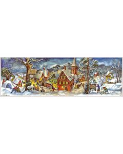 Richard Sellmer Panoramic Antique Style Advent Calendar Winter Village 265