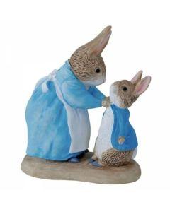 Beatrix Potter Mrs Rabbit and Peter Decorative Figurine Enesco 271780