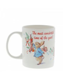 Peter Rabbit Christmas Mug by Enesco A30187