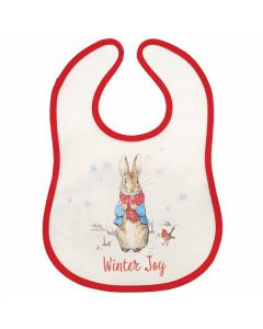 Peter Rabbit Christmas Bib by Enesco A30192