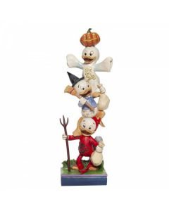 Teetering Trick-or-Treaters. Stacked Huey, Dewey and Louie Figurine. 6007079