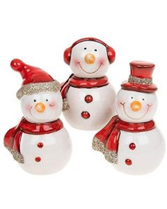 Set of 3 Ceramic Snowmen by Shudehill Gifts 292170