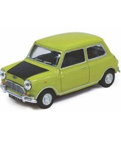 Cararama Mini Cooper Mr Bean Apple Green with Black Bonnet 441690