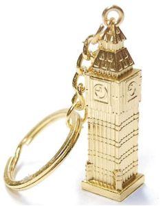 Gold Big Ben Metal Key Ring by Elgate 57087