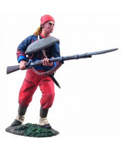 WBritain Union Infantry 114th Pennsylvania Zouaves Advancing at Ready #2   31113