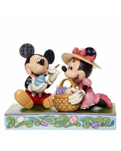 Easter Artistry - Mickey and Minnie Easter Figurine6008319 by Disney Enesco