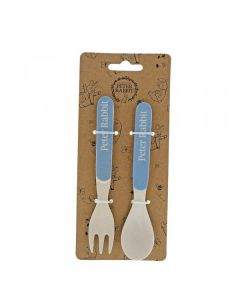Peter Rabbit Bamboo Fork and Spoon Set by Enesco A28800