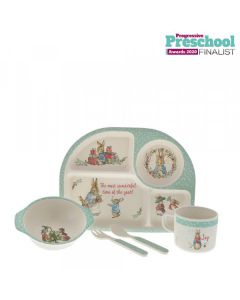 Peter Rabbit Bamboo Christmas Dinner Set by Enesco A30189