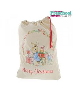 Peter Rabbit Christmas Sack by Enesco A30191