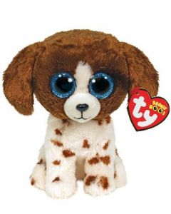 Ty Muddles Brown & White Dog Beanie Boo Clip 35245