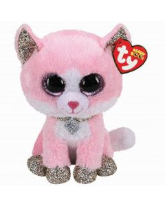 Ty Fiona Pink Cat Beanie Boo Clip 35247