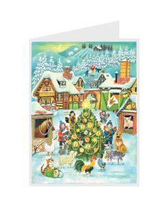 Richard Sellmer Postcard Advent Calendar Snowy Scene 40122