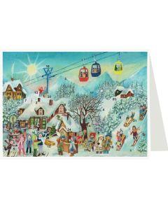 Richard Sellmer Postcard Advent Calendar Snowscene 40142