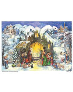 808 The Crib Traditional A4 Advent Calendar by Richard Sellmer