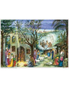 811 Follow the Star Traditional A4 Advent Calendar by Richard Sellmer