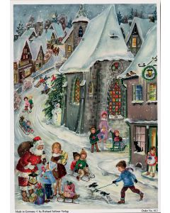 812 In the Snow Traditional A4 Advent Calendar by Richard Sellmer