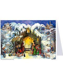 Richard Sellmer Postcard Advent Calendar Nativity Scene 40557