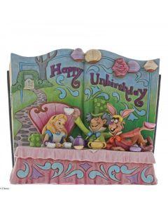 Happy Unbirthday (Storybook Alice in Wonderland Tea Party Figurine)4062257 by Disney Enesco