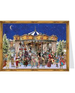 Richard Sellmer Postcard Advent Calendar Victorian Carousel 40780