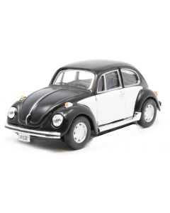 Cararama VW Beetle Black & White 410541