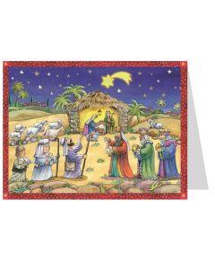 Richard Sellmer Postcard Advent Calendar Visitors at the Crib 411