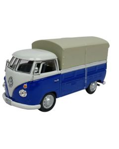 Cararama VW T1 Pick Up White And Blue with awning 413445