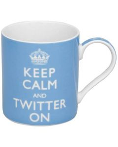Keep Calm and Twitter On Fine China Mug | LP99710