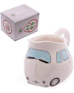 White Retro Car Milk Jug | CAR36