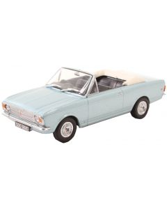Oxford Diecast Ford Cortina MkII Crayford Convertible Blue Mink (Roof Down) 43CCC001B