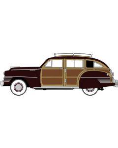 Oxford Diecast Chrysler T & C Woody Wagon 1942 Regal Maroon 87CB42001