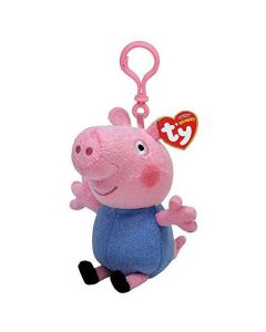 Peppa Pig George TY Beanie Keychain by TY 13cm 46132