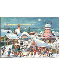 Richard Sellmer A4 Advent Calendar At The Port with Windmill 47