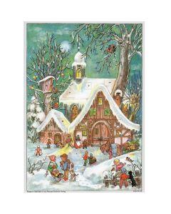 Richard Sellmer A4 Advent Calendar Village with Church 48