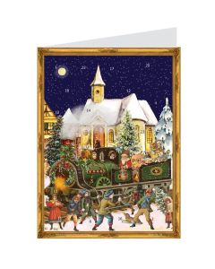 Richard Sellmer Postcard Advent Calendar Victorian Train 491