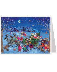 Richard Sellmer Postcard Advent Calendar Night time snow 492