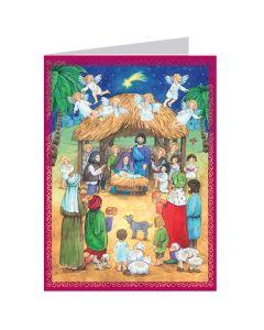 Richard Sellmer Postcard Advent Calendar Nativity Scene 493