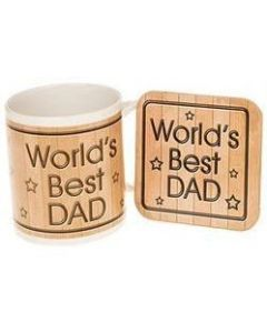 World's Best Dad Mug & Coaster Set | JD61002