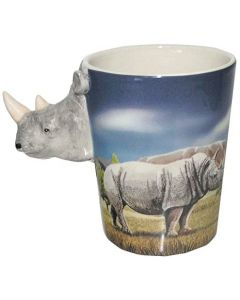 Rhino Animal Shaped Handle Mug | SMUG24
