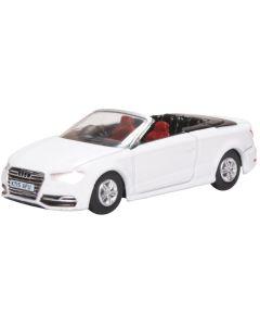 Oxford Diecast Audi S3 Cabriolet Glacier White 76S3001