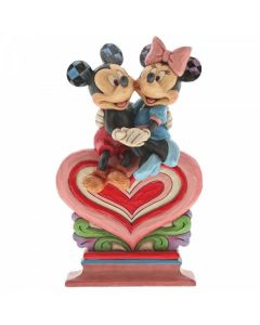 Heart to Heart (Mickey Mouse and Minnie Mouse Figurine)6001282 by Disney Enesco