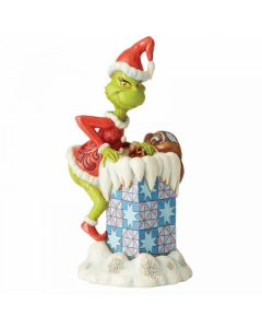 Grinch Climbing into the Chimney Figurine Jim Shore & Enesco 6004066