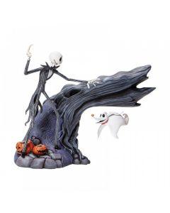 Jack & Zero Levitating Masterpiece Figurine Disney by Enesco 6005300