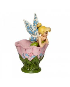 A Spot of Tink - Tinker Bell Sitting in a Flower Figurine 6008076