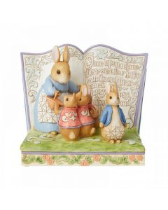 """Once upon a Time There Were Four Little Rabbits"" (Peter Rabbit Storybook Figurine) by Enesco 6008742"