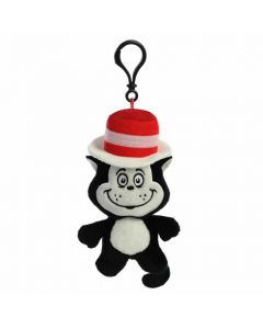 60996 Dr Suess' Cat in the Hat Plush Keyring Clip by Aurora World 13cm