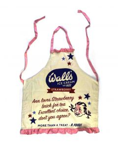 APRNWV01 Cotton Apron with Frill - Vintage Walls Ice Cream (Ann loves...) retro design