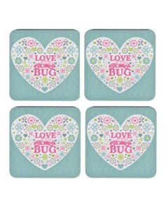 VW Beetle Love Bug Coaster Set of 4 by Elgate 68202