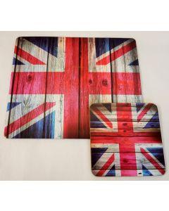 Union Jack Coaster & Mouse Mat Set 67667